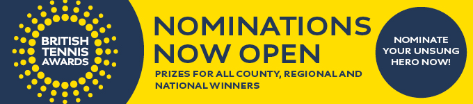 BRITISH TENNIS AWARDS – NOMINATIONS NOW OPEN