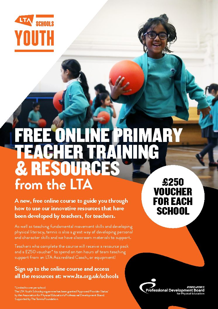 £250 WORTH OF COACHING AVAILABLE TO PRIMARY SCHOOLS